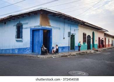 Leon, Nicaragua May 21, 2015: Scenes of daily life in the colonial city of Leon in northern Nicaragua â?? former home of the Sandinista resistance. General travel imagery for Nicaragua.