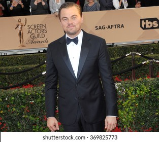 Leonardo DiCaprio at the 22nd Annual Screen Actors Guild Awards held at the Shrine Auditorium in Los Angeles, USA on January 30, 2016.