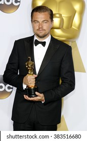 Leonardo DiCaprio at the 88th Annual Academy Awards - Press Room held at the Loews Hollywood Hotel in Hollywood, USA on February 28, 2016.