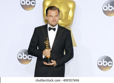 Leonardo DiCaprio at the 88th Annual Academy Awards - Press Room held at the Loews Hotel in Hollywood, USA on February 28, 2016.