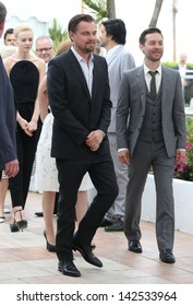 Leonardo DiCaprio abd Tobey Maguire at the 66th Cannes Film Festival - Great Gatsby photocall, Cannes, France.  15/05/2013