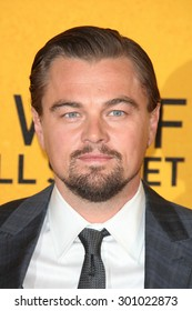 Leonardo DiCaprio attends the UK Premiere of 'The Wolf Of Wall Street' at the Odeon Leicester Square on January 9, 2014 in London, England.