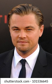 """Leonardo DiCaprio at the """"Inception"""" Los Angeles Premiere, Chinee Theater, Hollywood, CA. 07-13-10"""