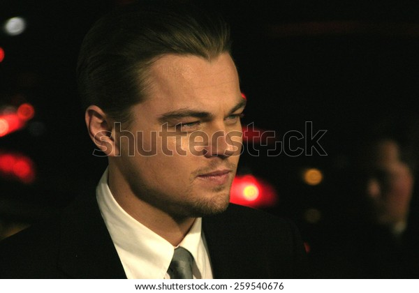 """Leonardo DiCaprio at the Los Angeles Premiere of """"The Aviator"""" held at the Grauman's Chinese Theatre in Hollywood, California, United States on December 1, 2004."""