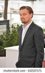 """Leonardo DiCaprio at the photocall for his movie """"The Great Gatsby"""" at the 66th Festival de Cannes. May 15, 2013  Cannes, France"""