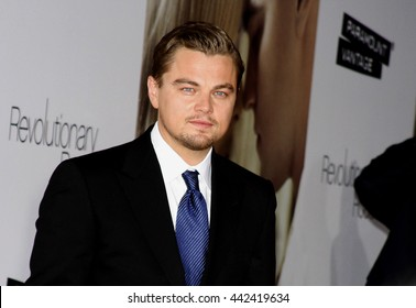 Leonardo DiCaprio at the World premiere of 'Revolutionary Road' held at the Mann Village Theater in Westwood, USA on August 15, 2008.