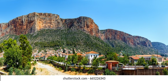 The Leonidio town in Peloponnese, Greece on a sunny summer day