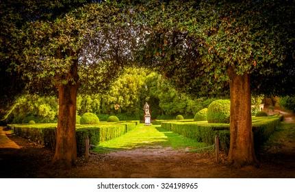The Leonini Gardens in San Quirico d'Orcia, Tuscany