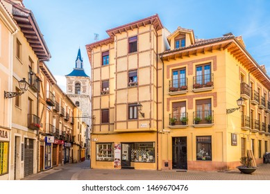 LEON,SPAIN - MAY 16,2019 - In the streets of Leon. Leon is the capital of the province of Leon, located in the northwest of Spain.