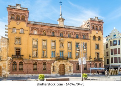 LEON,SPAIN - MAY 16,2019 - View at the Building of Museum in Leon. Leon is the capital of the province of Leon, located in the northwest of Spain.