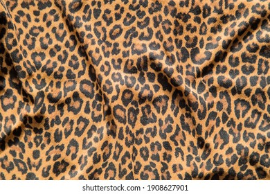 Leopard effect, fabric pattern, Background sample, seamless background print.