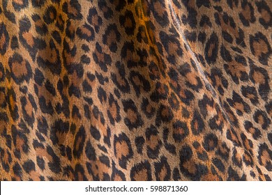 Leopard pattern fabric background