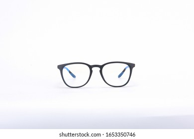Leopard print glasses on a white background