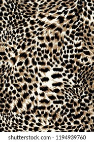 Leopard skin pattern texture. Leopard texture background. Seamless leopard pattern. Animal print. Leopard seamless fur texture.