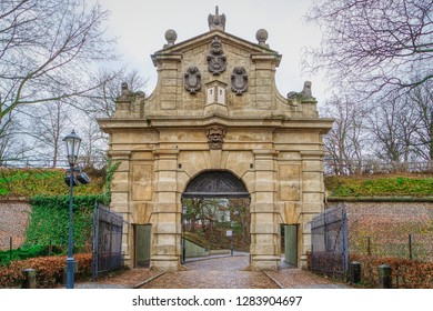 The Leopold Gate to the fortress Vysehrad in Prague (Praha), Czech Republic