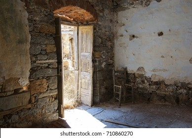 The Leper Room. Fortress of the island of Spinalonga. Leprosarium. Crete, Greece.