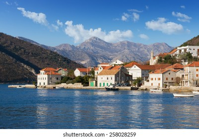 Lepetane village. Bay of Kotor, Montenegro