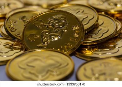 Leprechaun coin background