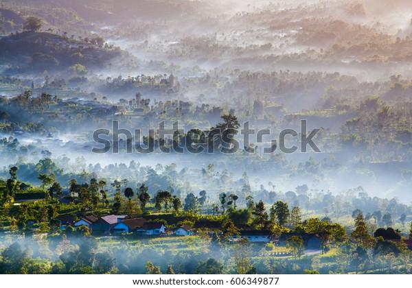 Sky Leren Bankstel.Lereng Gunung Merbabu Slop Merbabu Mountain Stock Photo Edit Now