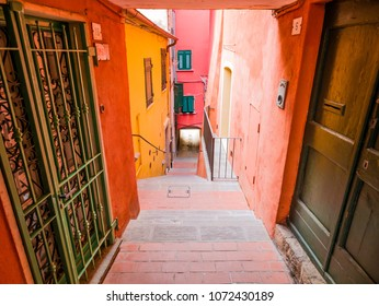 LERICI, IT - Apr 14, 2018 - Alley of the port of Lerici, Golfo dei Poeti, near the Cinque Terre, Liguria. Pearl of the Eastern Riviera, overlooking the Gulf of the Poets.