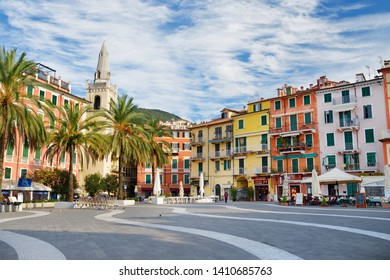 LERICI, ITALY - NOVEMBER 19, 2018: Piazza Mottino square in Lerici town, located in the province of La Spezia in Liguria, part of the Italian Riviera, Italy.