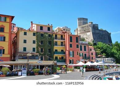 Lerici, La Spezia, Liguria / Italy - June 15 2018: The town of Lerici.