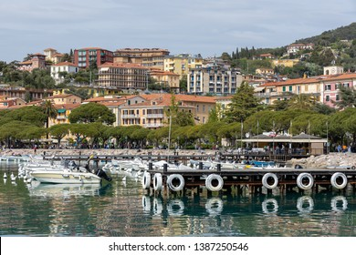 LERICI, LIGURIA/ITALY  - APRIL 21 : Boats in the harbour in Lerici in Liguria Italy on April 21, 2019. Unidentified people