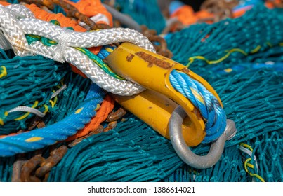 LERICI, LIGURIA/ITALY  - APRIL 21 : Fishing nets and rope in the harbour in Lerici Liguria Italy on April 21, 2019