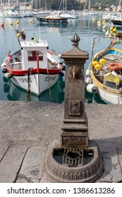 LERICI, LIGURIA/ITALY  - APRIL 21 : Water tap in the harbour in Lerici in Liguria Italy on April 21, 2019