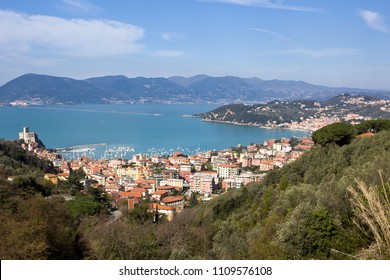 Lerici panoramic view, gulf of La Spezia - Ligurian coast, La Spezia