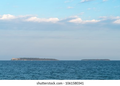 The Lerins islands group, islands Saint Margaret and the Saint Honorat, Cannes, France
