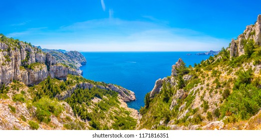 Les Calanques national park in France