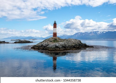 Les Eclaireurs Lighthouse near Ushuaia, Argentina