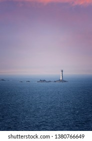 Les Hanois Lighthouse in Guernsey, British Isles