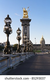 Les Invalides in the background from the bridge of Alexandre III