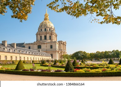 Les Invalides famous complex containing French military history museum, retirement home for veterans and burial place of Napoleon, Paris, France
