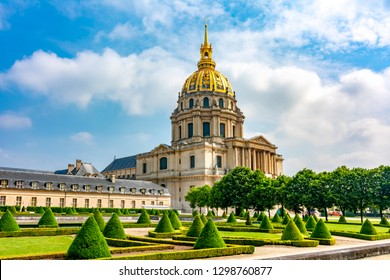 Les Invalides (National Residence of the Invalids) in Paris, France - Shutterstock ID 1298760877