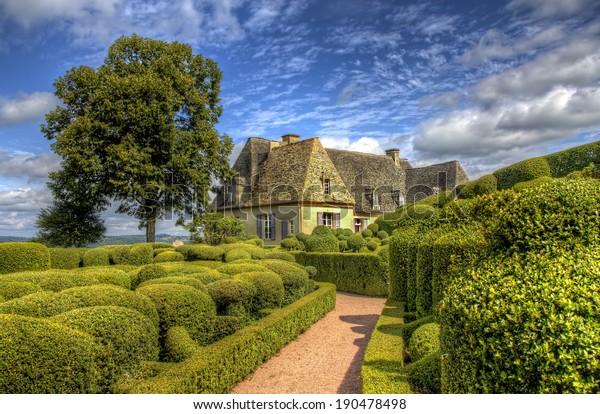 Les Jardins De Marqueyssac Dordogne France Stock Photo Edit