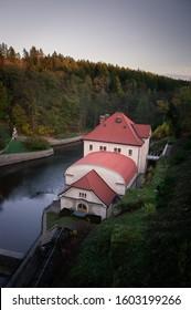 Les Kralovstvi dam captured in the golden hour. - Shutterstock ID 1603199266
