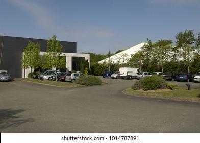 Les Mureaux; France - may 7 2009 : the business park