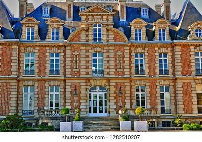 Les Mureaux; France - september 16 2017 : the Becheville castle