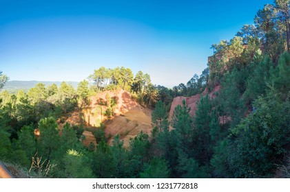 Les Ocres du Roussillon - a former ochre quarry in Provence, southern France