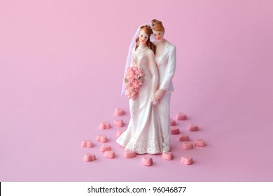 Lesbian couple who are getting married