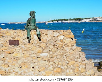 L'ESCALA, SPAIN - AUGUST 21: Little Prince sculpture in L'Escala, Spain on August 21, 2017. It is located in Riells Avenue and is dedicated to the character from the book titled Le Petit Prince.