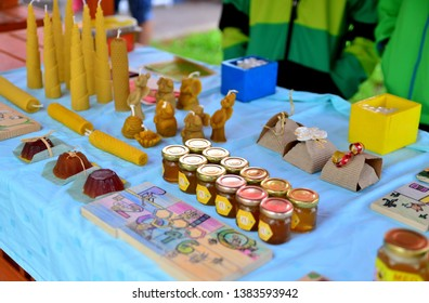 LESCE, SLOVENIA - SEPTEMBER 22, 2018: Honey festival with honey products, tasting and workshops.