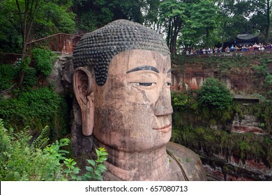 LESHAN, CHINA - CIRCA MAY 2017 Giant Buddha Da Fo