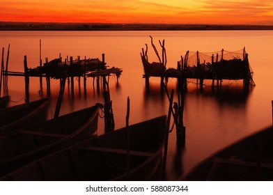 Lesina lake in Apulia (Italy)   Lago di Lesina in Puglia