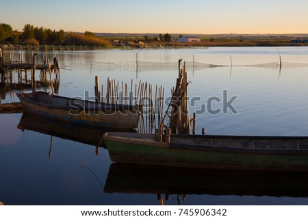 fd60476d3e Lesina Puglia Italy View Lake Boats Stock Photo (Edit Now) 745906342 ...