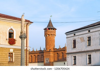 TARNÓW, LESSER POLAND VOIVODESHIP, POLAND - September 3, 2018: Town hall tower.