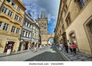 Lesser Town Bridge Tower - entrance to Charles Bridge from Lesser Town side, Prague